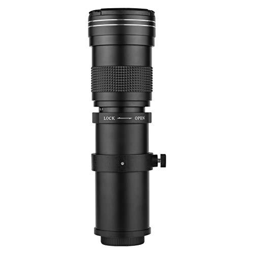 Andoer Cámara MF Super Teleobjetivo Zoom Lente F / 8.3-16 420-800mm Montaje en T con Anillo Adaptador Reemplazo de Rosca Universal 1/4 para cámaras Canon EF-Mount EOS