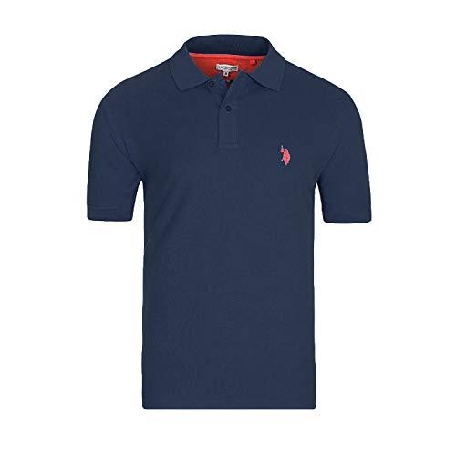U.S. POLO ASSN. Basic Poloshirt Polohemd Baumwolle Herren Kurzarm 100% Baumwolle (Navy, XL)