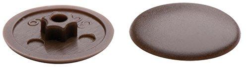 JD KS-Abdeckkappen für Senkkopf-Fensterrahmenschrauben I 30, weiss oder braun (40 Stück, braun)