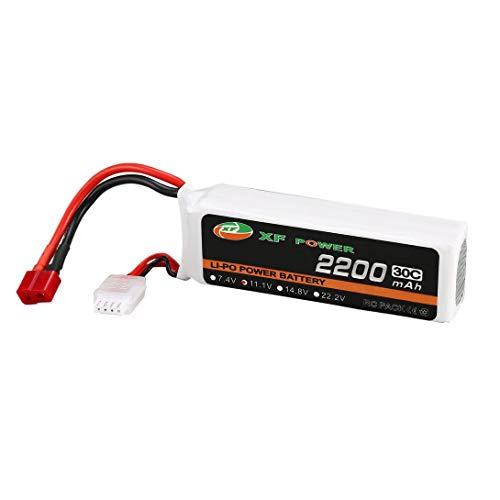 Swiftswan Lipo Battery - Batería de litio (11,1 V, 30 C, 2200 mAh, con conector T Dean-Style para vehículos RC, coches, camiones