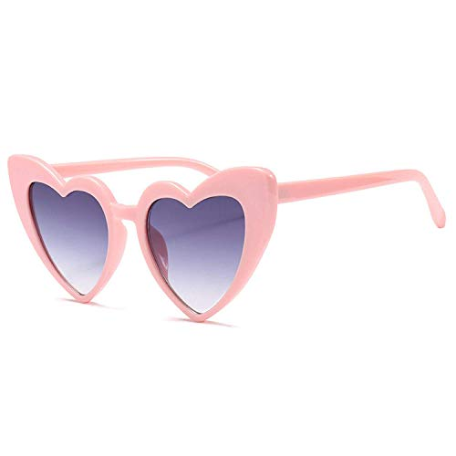 Occhiali da Sole,Occhiali da Sole Sportivi,Heart Shaped Sunglasses Women Luxury Cat Eye Sun Glasses Ladies Vintage Pink Black Eyewear UV400
