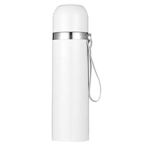 Water Bottle Insulated Stainless Steel Reusable Mini Cute Thermos Water Bottle 350Ml/12Oz Sports Keeps Hot and Cold Leakproof Lids Outdoor White