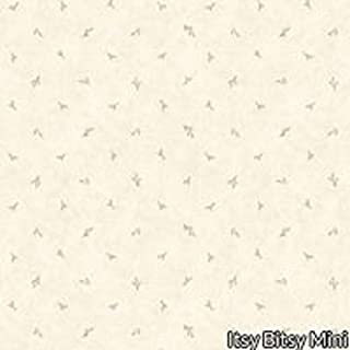 Dollhouse Wallpaper Birdhouse Cream Wallpaper by Itsy Bitsy Mini