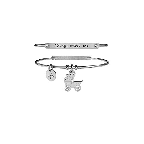 KIDULT LIFE Collection Bracciale in acciaio CARROZZINA 231666
