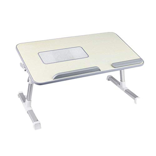 FGDSA Overbed Side Table Bed Laptop Table Height Adjustable Computer Desk Mouse Stand with Cooling Fan Tray Notebook Holder Can be Lifted Standing Desk