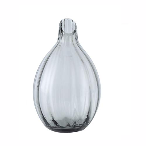 Glasvaas handgemaakte Craft Hydroponic Plant Exquisite kleine vaas kan worden geplaatst In onderdeel tv kabinet, huishoudens, kantoren, Wedding (Color : Gray)