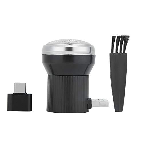 Haokaini Mini Afeitadora Usb Portátil Herramienta de Afeitar con Adaptador Maquinilla de Afeitar Eléctrica para Hombres