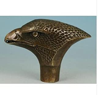 100% Brass Pure Copper Brass Grandpa Good Lucky Old Brass Brass Carved Eagle Statue Cane Walking Stick