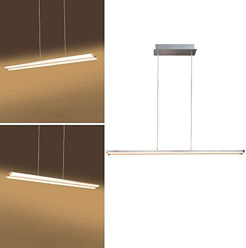 PADMA 18W LED Pendelleuchte Höhenverstellbar Esstisch Warmweiß, Modern Hängelampe Küchelampe, Länge: 71CM, Aluminium für Wohnzimmer Schlafzimmer Küche