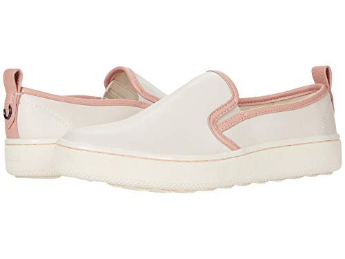COACH C115 Slip-On Sneaker with Petal Trim Chalk/Petal 8 B