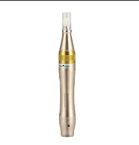 Derma stylo à bille pour micro-aiguilles, USB sans fil de charge anti-vieillissement de la peau Vergetures Outil de réparation, régénération des cheveux professionnel Micro-aiguille Rouleau en cuir