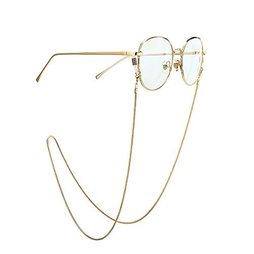 Vidrios cadena Gafas de cadena de la cadena de serpiente cuerda de seguridad Gafas Titular de las mujeres collar de oro y de plata de las gafas de sol de los vidrios de la cadena Gafas de sol para Sop