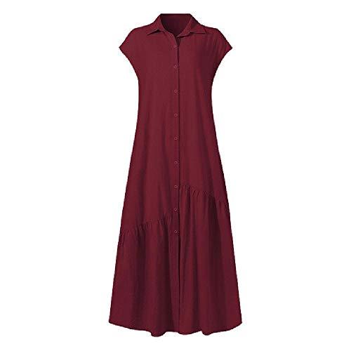 N\P Vestido sin mangas vestido de verano de las mujeres largas