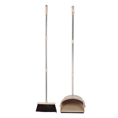 Cafopgrill bezem en stofzuigerset, staande opvouwbare stofzuigerbezem set huishoudelijke schoonmaak veeggereedschap lange buis voor kantoor en huis vegen snel vegen staande sweep set met bezem