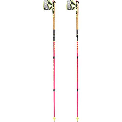Leki Micro Trail Pro Bastones, Unisex Adulto, Neonpink-Neonyellow-Black, 120 cm