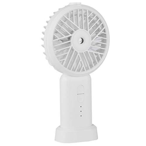 CHENGGONG Ventilador portátil, Mini Ventilador de Viento Fuerte, para Correr Viajes Deportes para Viajes, Senderismo, Escalada, Trabajo de Oficina, Ejercicio(White)