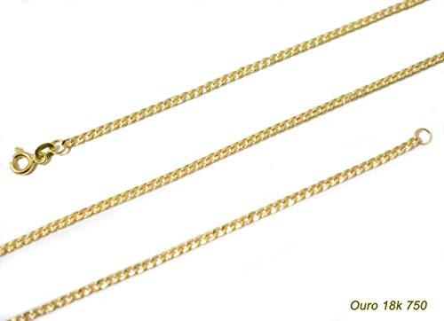 Corrente Cordão Groumet Ouro 18k Teor 0,750 Com 60cm