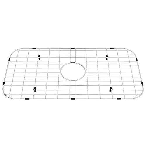 "MONSINTA Sink Protectors for Kitchen Sink, Kitchen Sink Grate for Kitchen Sink, 26 15/16"" x 14"" Sink Grid, Sink Protector with Center Hole for Single Sink Bowl, Kitchen Sink bottom Grid"