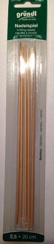 Strumpfstricknadel aus Bambus Stärke: 2,50, 20cm [Spielzeug]