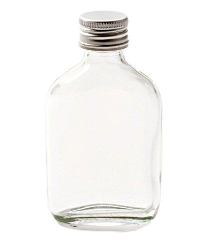 Nutley 's 100 ml schroefdop flesjes 6 x 100 ml kleine glazen fles flesjes zilveren schroefdop - Sloe Gin bruiloftszanden, transparant, 14 x 25 x 7,5 cm