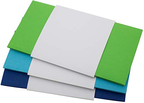 Geschenkumschlag, 23 x 12 cm, 3 Stück | Geldgeschenk Gutschein Verpackung Weihnachten | Glückwunschkuvert Geburtstag (Grün, Blau)