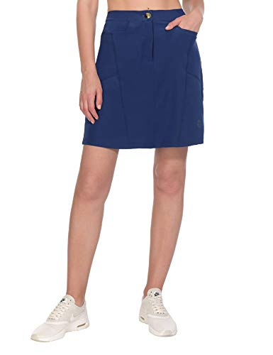 Little Donkey Andy Women's Athletic Skort Build-in Shorts with Pockets UPF 50+ Golf Tennis Sports Casual Skirt Navy XL