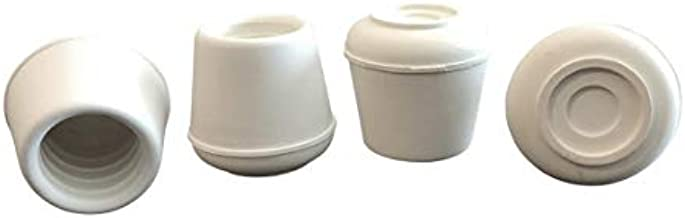 Shepherd Hardware 9121 1-Inch Inside Diameter Rubber Leg Tips, 4-Pack, White