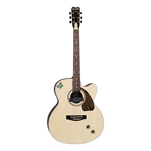 Givson Venus Rose VR-N 6-String Cutaway Right Hand Electro-Acoustic Guitar with Bag (Natural)