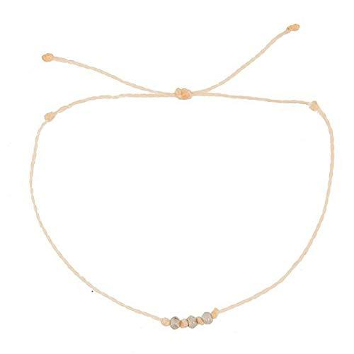 DMUEZW wax lijn facet kralen armband voor vrouwen antieke zilver gouden meid van eer vriendschap armband