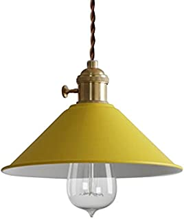 RUNNUP Vintage Plafond Éclairage Lustre Pendentif Luminaire En Métal Jaune pour Maison Loft salon Bar Restaurants Café Bou...