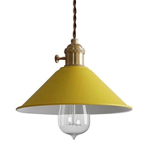 RUNNUP Lámpara de iluminación de techo Vintage Lámpara colgante Lámpara de metal amarillo para la sala de estar del loft de la casa Bar Restaurantes Cafetería Decoración del club