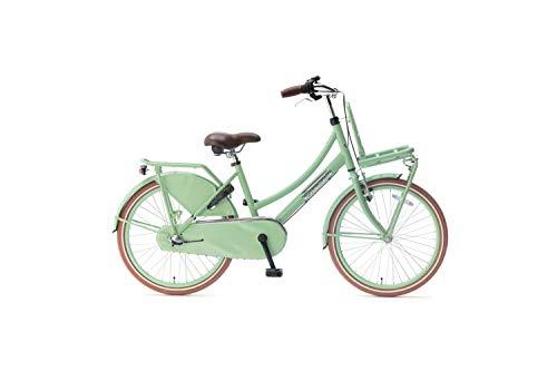 Popal Daily Dutch Basic+ Kinderfahrräder Mädchen 22 Zoll 36 cm Mädchen 3G Rücktrittbremse Grün