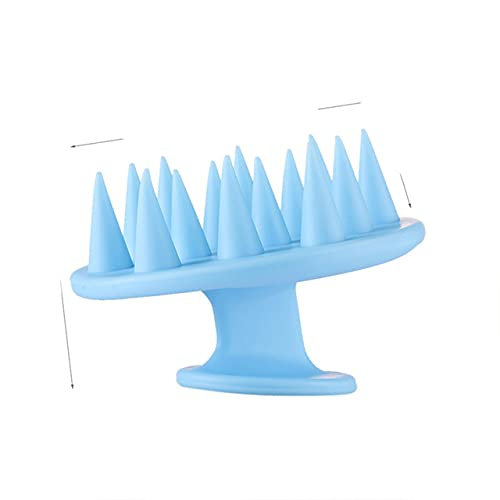 Silicona Ducha Cepillo para lavar el cabello Champú Peine Cuerpo Cabeza Cuero cabelludo e Peine Ducha Baño Spa Adelgazante e Cepillo-Estados Unidos, Azul oscuro