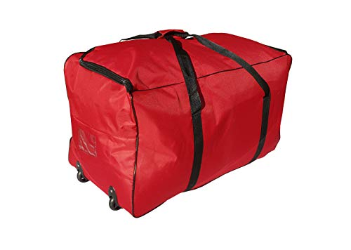 Sac Extra Grand Chariot XXL Sport de 140 litres, Valise Gym, Voyage, Camping (Rouge)