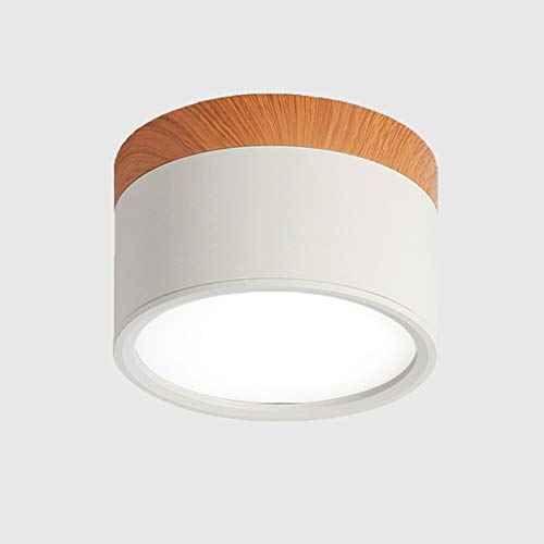 Temgin Focos Para el Techo LED Lámpara de Techo 7W Blanco Cálido Plafón con Focos Aluminio Bañadores de pared Cocina Pasillo Sala
