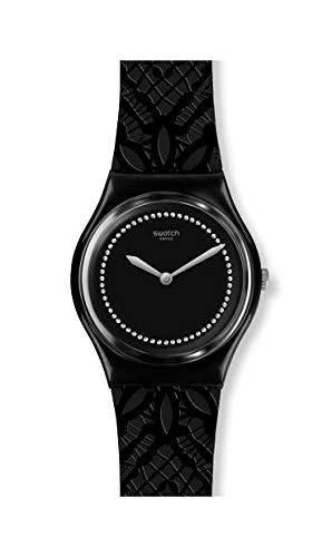 Swatch Damen Analog Schweizer Quarz Uhr mit Silicone Armband GB320