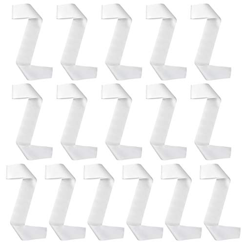 Yolyoo 16 Pack Blank Satin Sash Party Pageant Stain Sash DIY Plain Sash Party Accessory for Wedding, Beauty Pageant, Hen Party, White