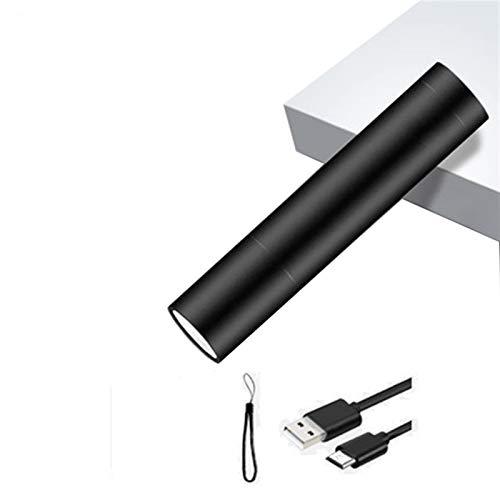 Mini linterna LED USB recargable 3 Modo de iluminación Antorcha impermeable Torch Zoom Telescópico Traje portátil con estilo para iluminación nocturna (Emitting Color : Package A)