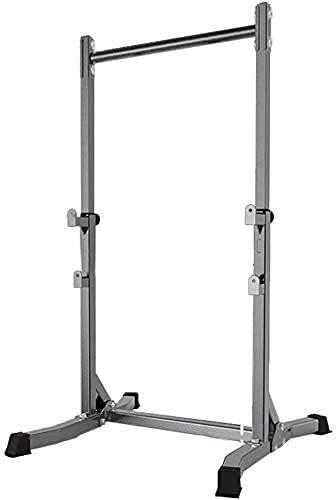 MUZIDP Pull-ups/kommerzielle Indoor Horizontale Bar Fitnessgeräte/Squat-Hantel-Rack/Hausarme Flexion und Erweiterungs-Trainingsgerät, Grau, 109x98x209.5cm (Color : Gray, Size : 109x98x209.5cm)