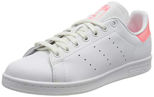 adidas Stan Smith W, Scarpe da Ginnastica Donna, Ftwr White/Signal Pink/Ftwr White, 36 2/3 EU