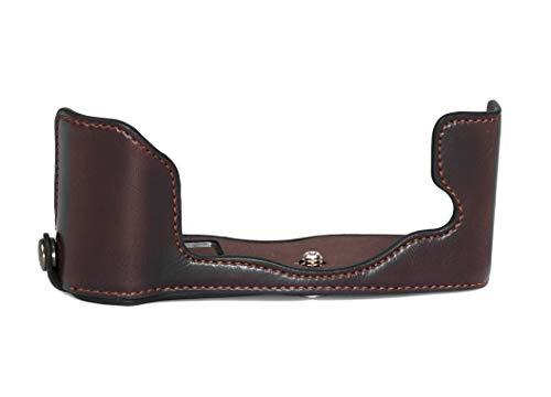 Funda semicarcasa para cámara compatible con Olympus Pen-F (piel sintética), color marrón
