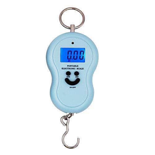 Escala de gancho de 50 kg / 10g, balanza colgante, balanza de bolsillo de gramo de viaje con luz de fondo, herramienta de pesaje de cocina, barra de pesca