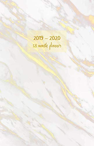 2019 - 2020 18 month planner: July 19 - Dec 20. Monday start week. Monthly and weekly planner with TO-DOS. Includes Important dates, 2021 Future ... (Portable) (Golden marble design cover).