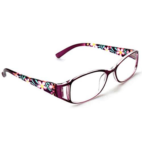 gafas de lectura De Moda para Mujer De Alta Definición, Exquisitas Y Exquisitas Bloquean Material TR Azul Cómodo De Llevar