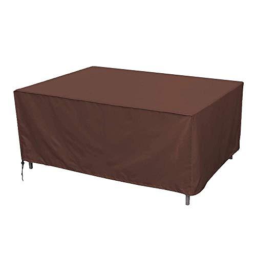 YSJYYHP Funda De Muebles De JardíN,185x120x65cm Funda Protectora para Conjuntos De Muebles Jardin, 210D Oxford, Impermeable Y A Prueba De Polvo, Anti-UV,marrón