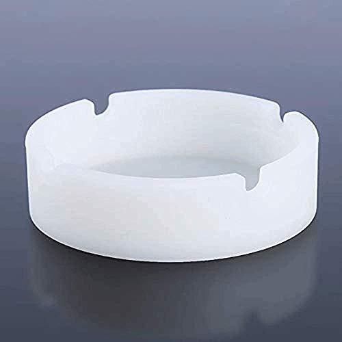 EYDSHIKL Cenicero de cerámica Cenicero de Escritorio para Exteriores de cenicero al Aire Libre para la decoración de la Oficina en el hogar,White