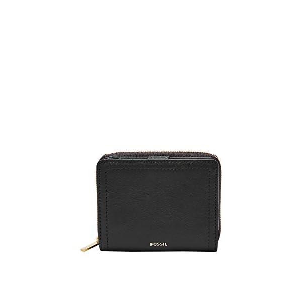 Fossil Women's Logan Leather RFID-Blocking Mini Multifunction Bifold Wallet 1
