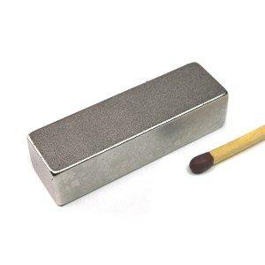 magnet-shop Quadermagnet 40,0 x 12,0 x 10,0 mm N35 Nickel - hält 13,9 kg, Neodym Supermagnet Powermagnet Haftmagnet Rechteckmagnet