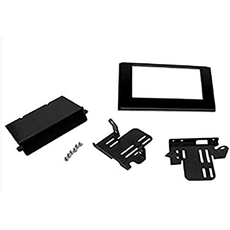 Scosche TA2121B Compatible with 2016-Up Toyota Tacoma Premium Model ISO Double DIN w/ Pocket Dash Kit Black