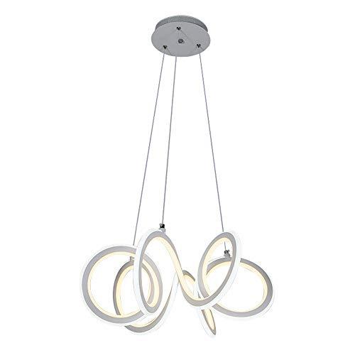 Lampe suspension LED moderne créative minimaliste - Élégante lampe suspendue - Pour salon, salle à manger, salle à manger, salle à manger, appartement, plafonnier - Design rond - Ø 50 cm